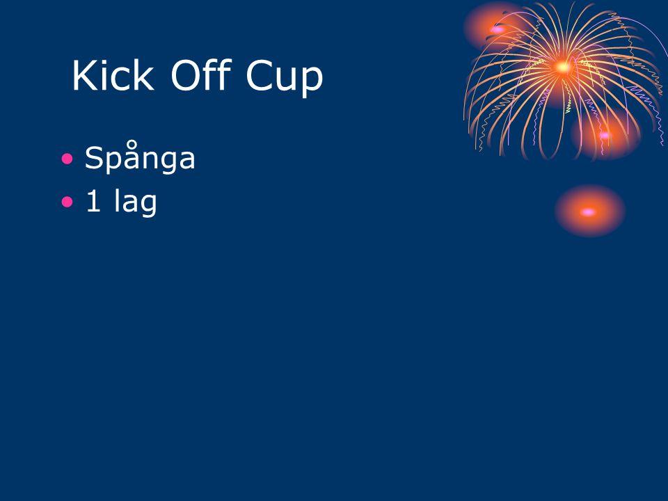 Kick Off Cup Spånga 1 lag