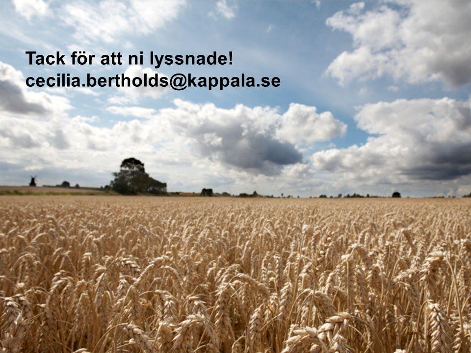 Tack Tack för att ni lyssnade! cecilia.bertholds@kappala.se