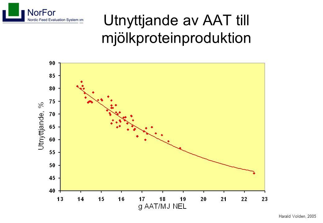 Harald Volden, 2005 Utnyttjande av AAT till mjölkproteinproduktion