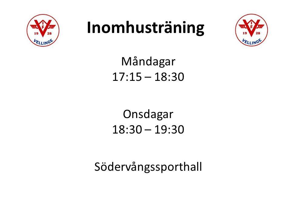Inomhuscuper Tomtecupen Lördagen den 28/11 17:00 – 19:00 Nästa år Viffecupen/Lions 13-14/2 - 2016 +1