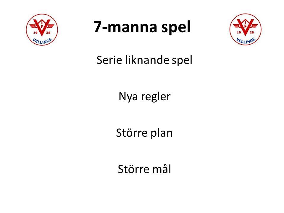 7-manna spel Serie liknande spel Nya regler Större plan Större mål
