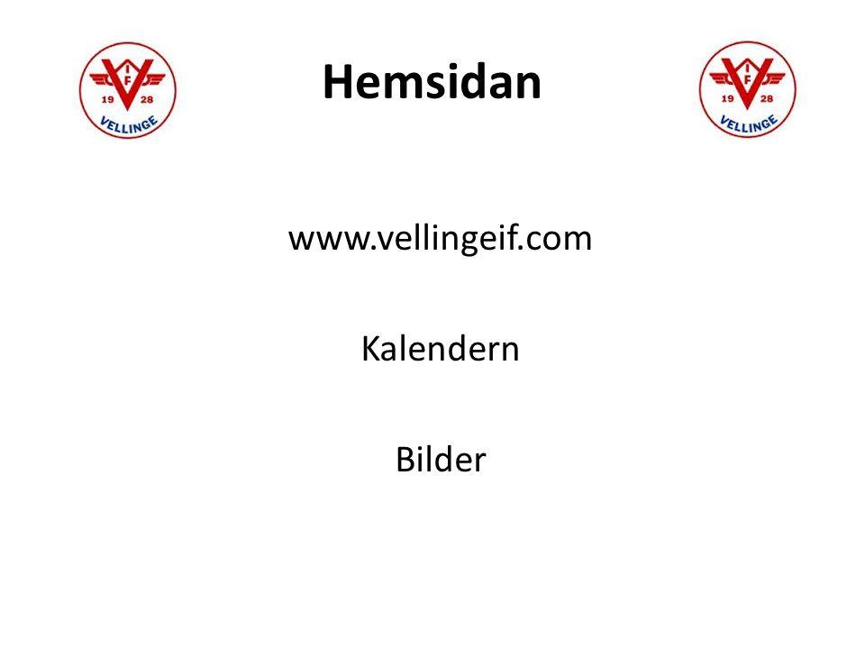 Hemsidan www.vellingeif.com Kalendern Bilder