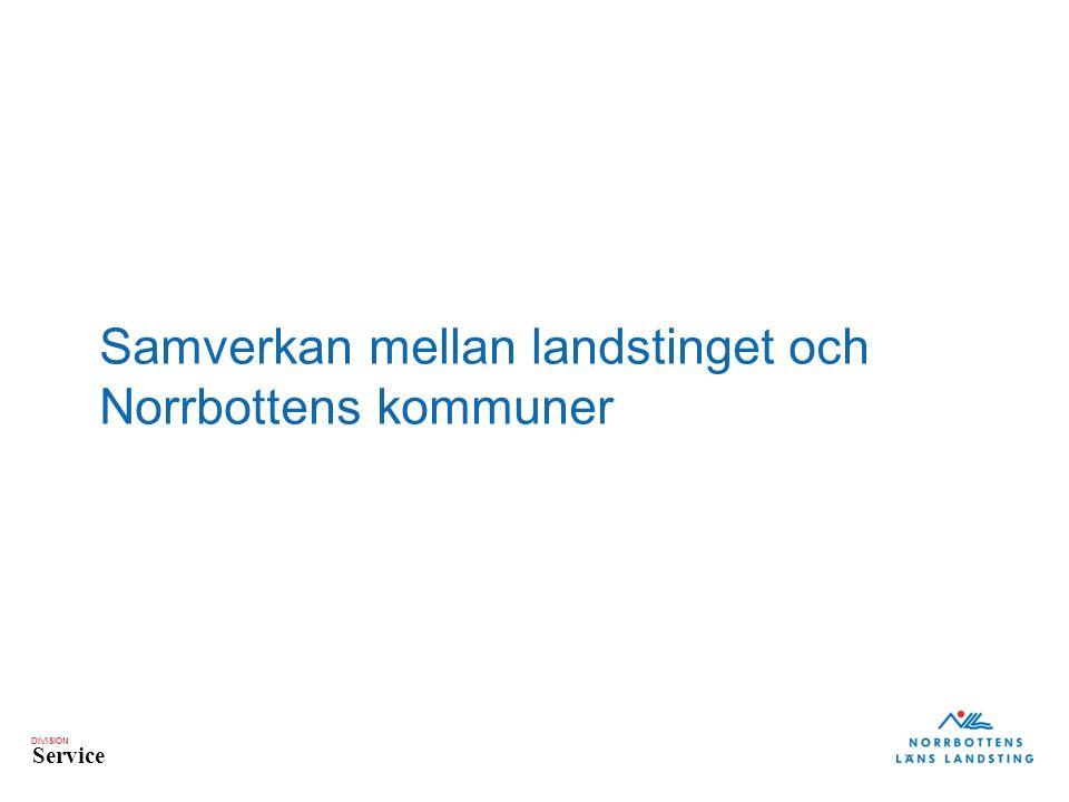 DIVISION Service Samverkan mellan landstinget och Norrbottens kommuner