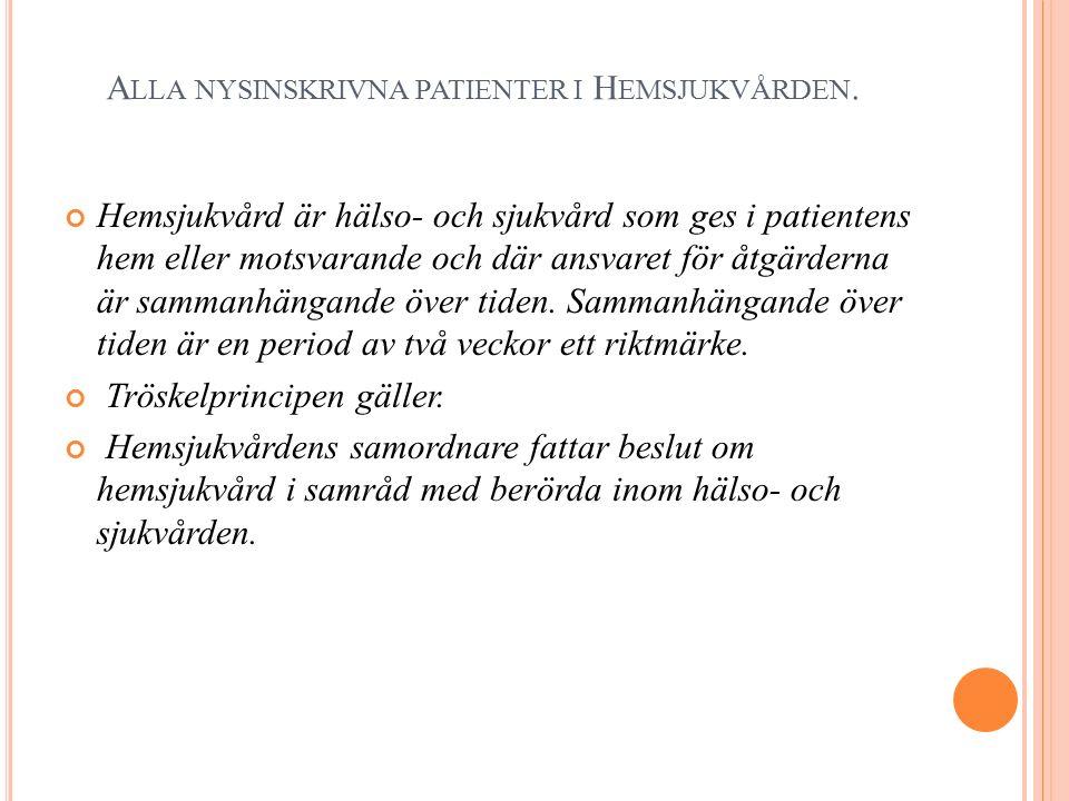 A LLA NYSINSKRIVNA PATIENTER I H EMSJUKVÅRDEN.