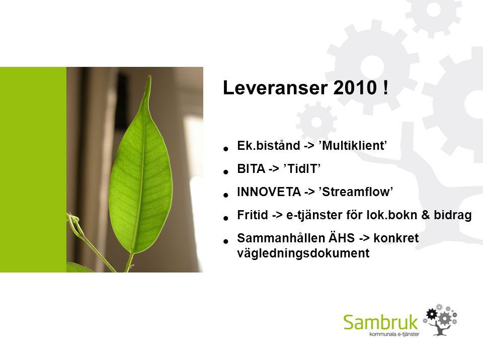 Leveranser 2010 .