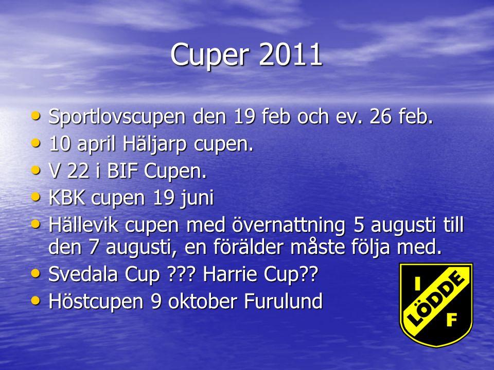 Cuper 2011 Sportlovscupen den 19 feb och ev. 26 feb.