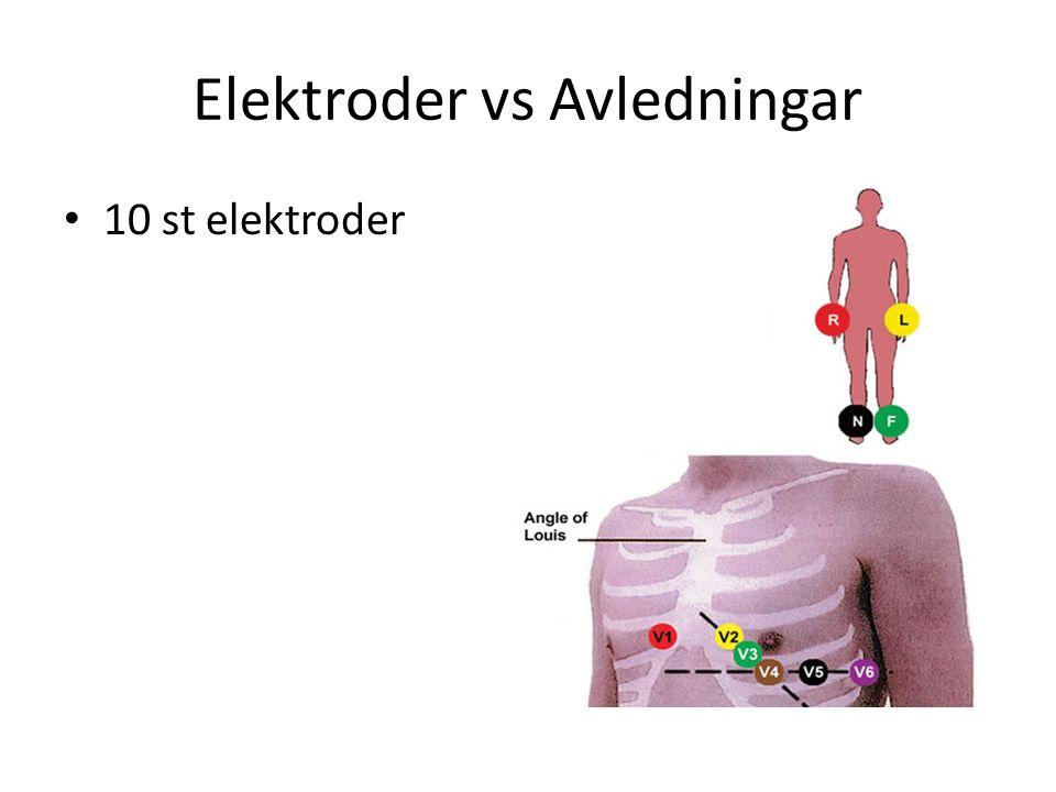 Elektroder vs Avledningar 10 st elektroder