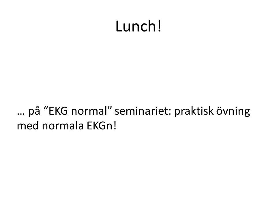 Lunch! … på EKG normal seminariet: praktisk övning med normala EKGn!