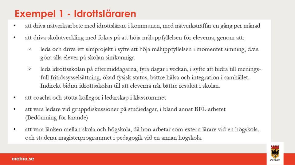 orebro.se Exempel 1 - Idrottsläraren