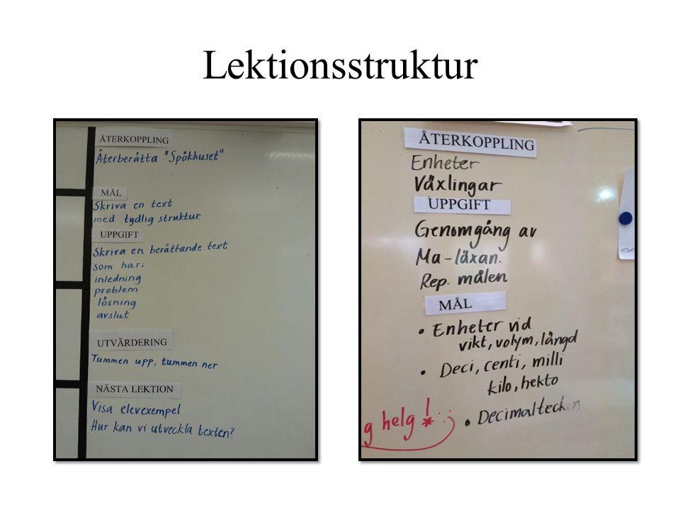 Lektionsstruktur