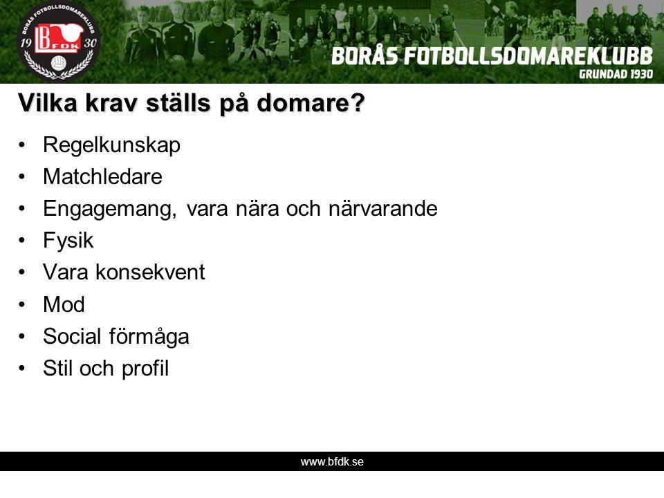 www.bfdk.se Vilka krav ställs på domare.