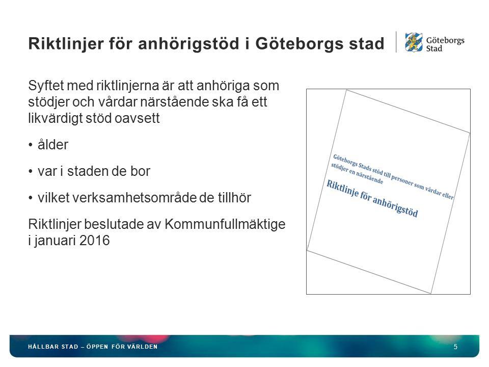 HÅLLBAR STAD – ÖPPEN FÖR VÄRLDEN 16 Är en del av Välfärdens processer, vård och omsorgsprocessen Ska vara ett stöd i myndighetsutövningen som syftar till att ge individuellt stöd till personer med funktionsnedsättning i Göteborgs Stad.