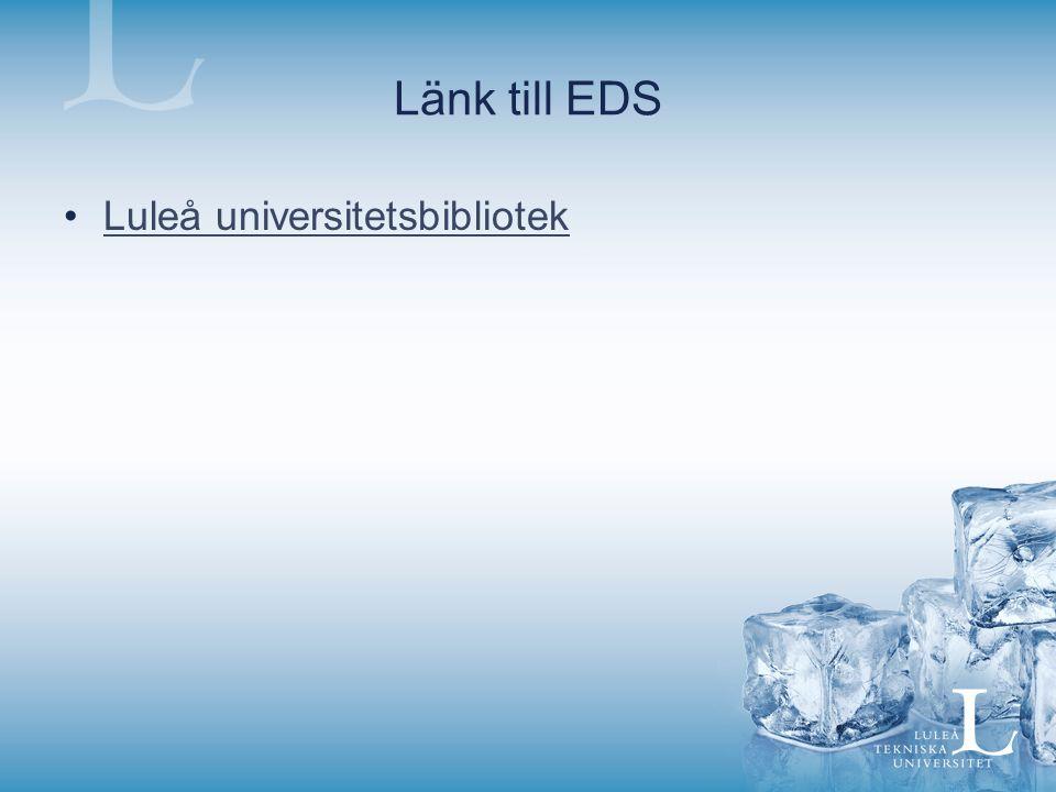 Länk till EDS Luleå universitetsbibliotek