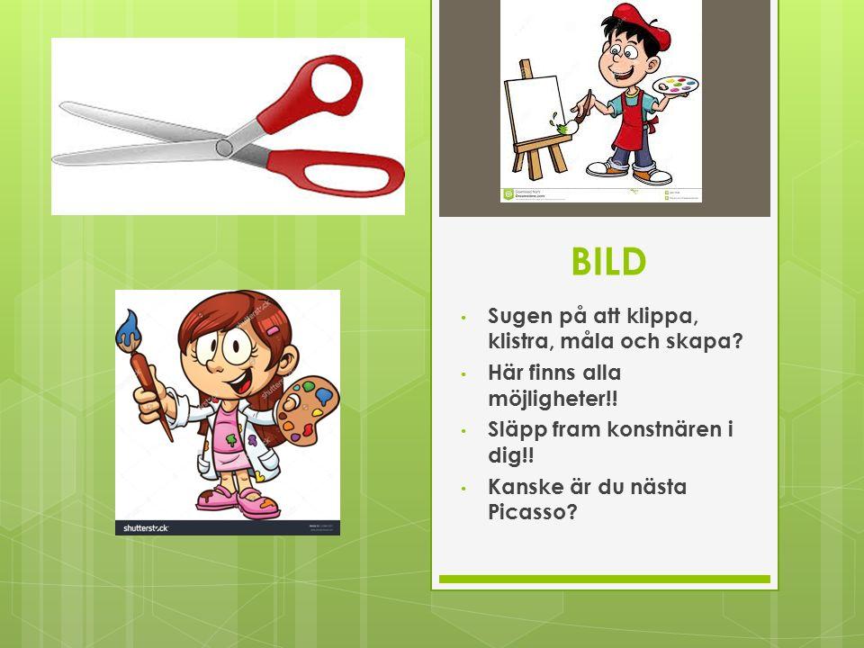 BILD Sugen på att klippa, klistra, måla och skapa.
