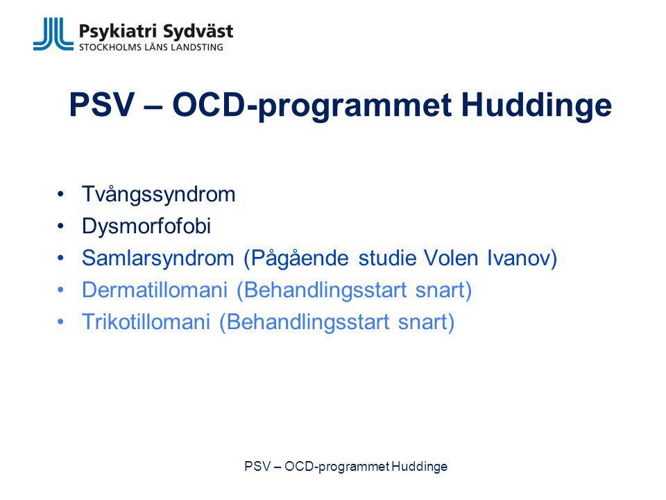 Diskussion! PSV – OCD-programmet Huddinge