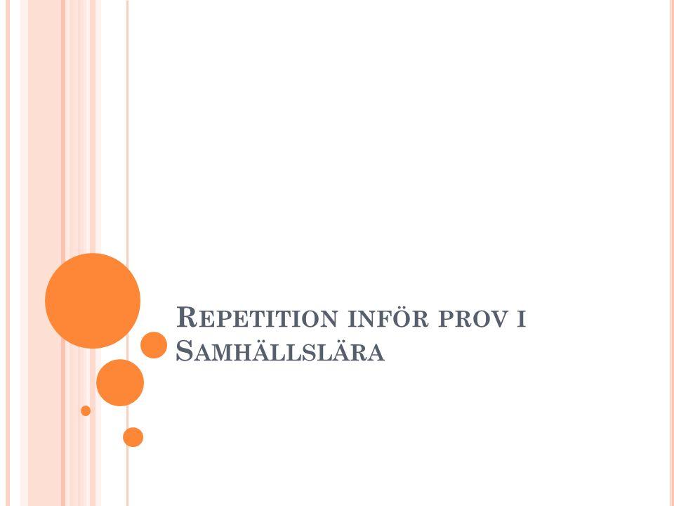 R EPETITION INFÖR PROV I S AMHÄLLSLÄRA