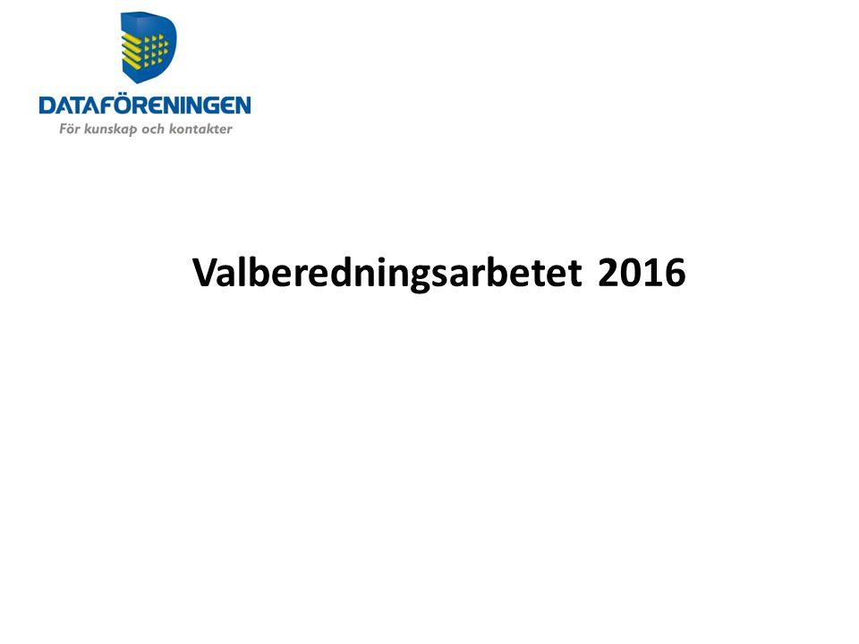 Valberedningsarbetet 2016