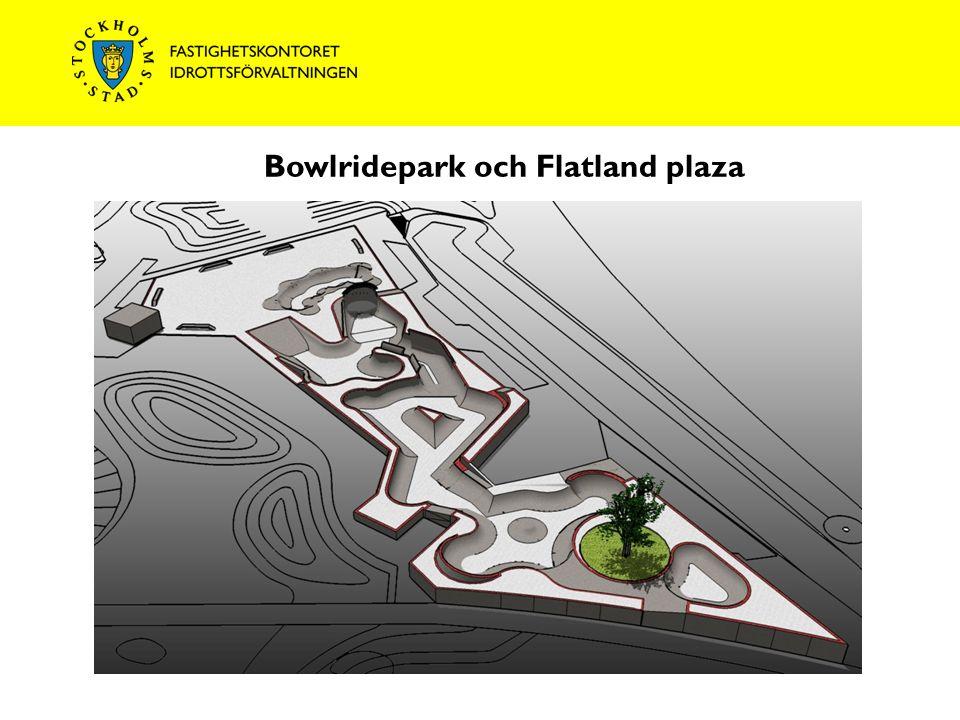 Bowlridepark och Flatland plaza T-bana Högdalen Rågsvedsvägen Mot T-bana Rågsved Magelungsvägen Harpsundsvägen