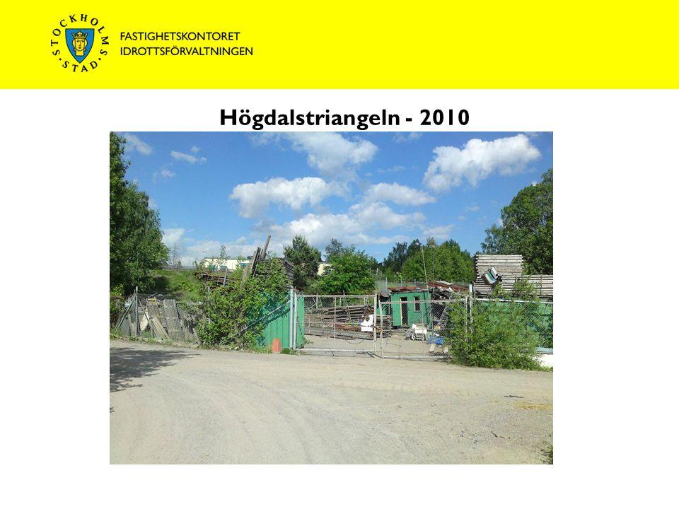 Högdalstriangeln - 2010 T-bana Högdalen Rågsvedsvägen Mot T-bana Rågsved Magelungsvägen