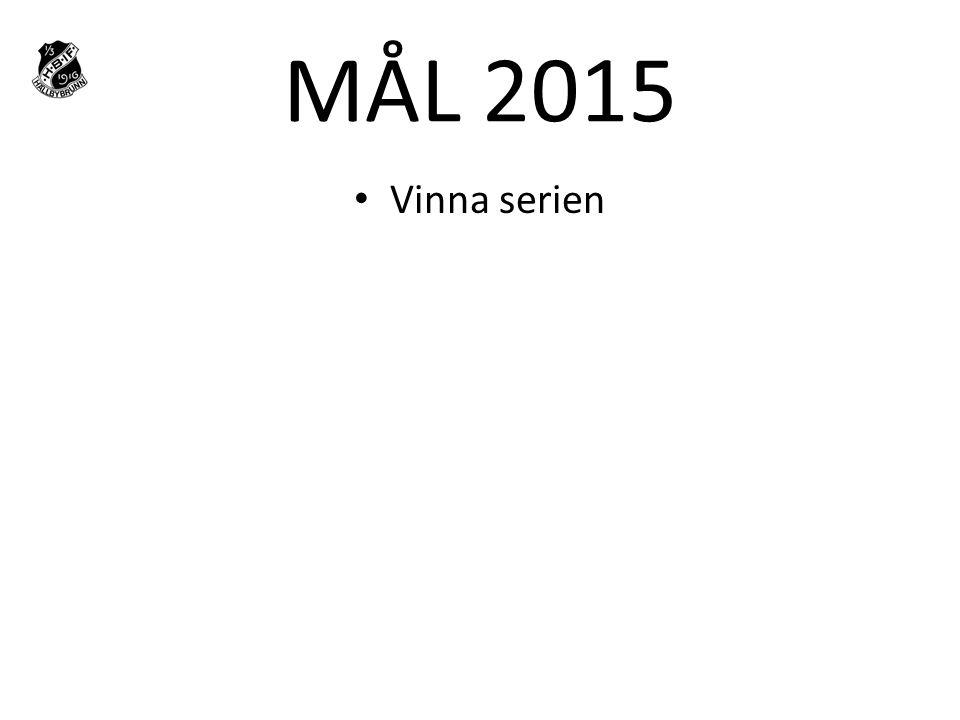 MÅL 2015 Vinna serien