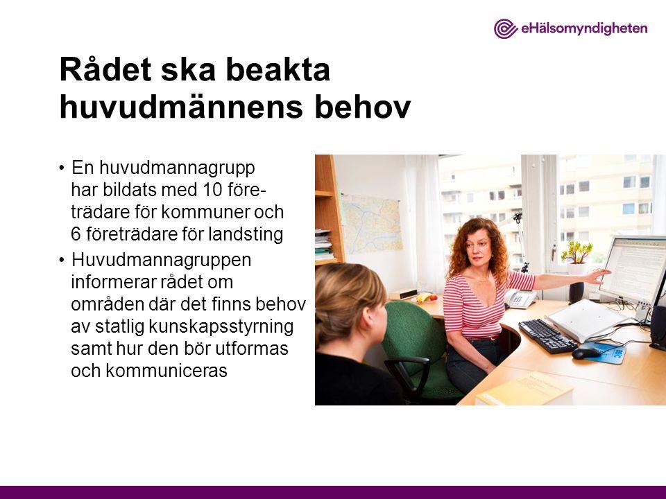 Nuläget Rådet har antagit en gemensam avsiktsförklaring Myndigheterna har inlett ett initialt samarbete på följande områden: Samordnade dokumentationskrav Psykisk ohälsa hos äldre E-hälsa Kartläggning av olika kunskapsunderlag