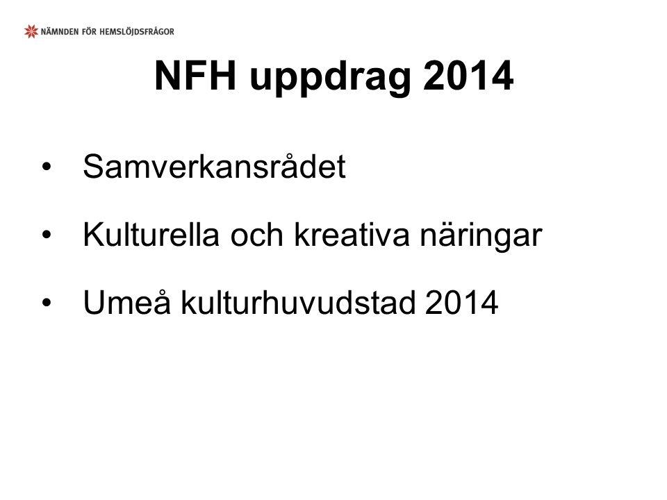 NFH uppdrag 2014 Samverkansrådet Kulturella och kreativa näringar Umeå kulturhuvudstad 2014