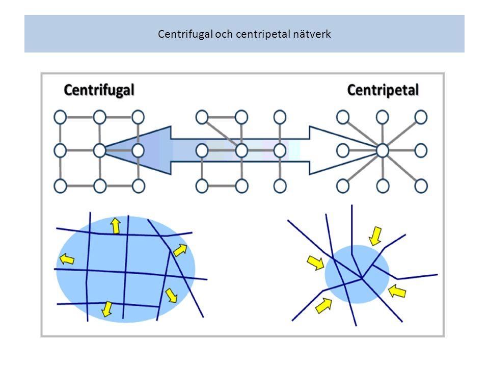 Centrifugal och centripetal nätverk