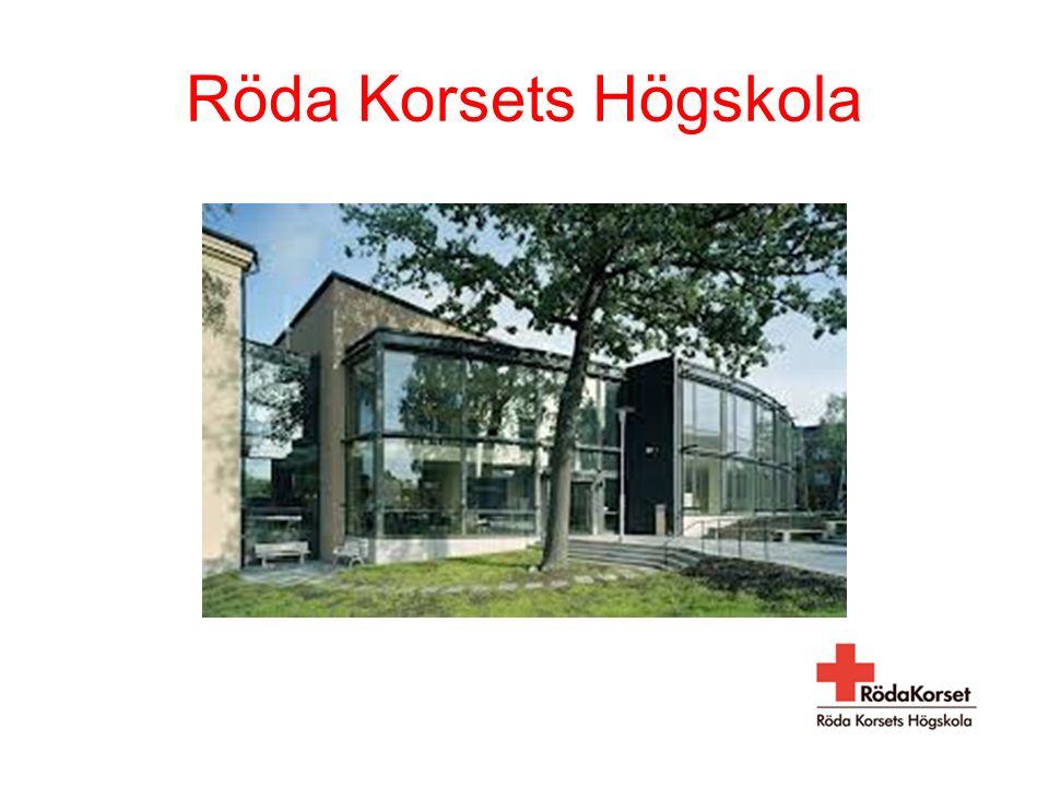 VÄLKOMMEN till Röda Korsets Högskola och sjuksköterskeprogrammet 180 hp