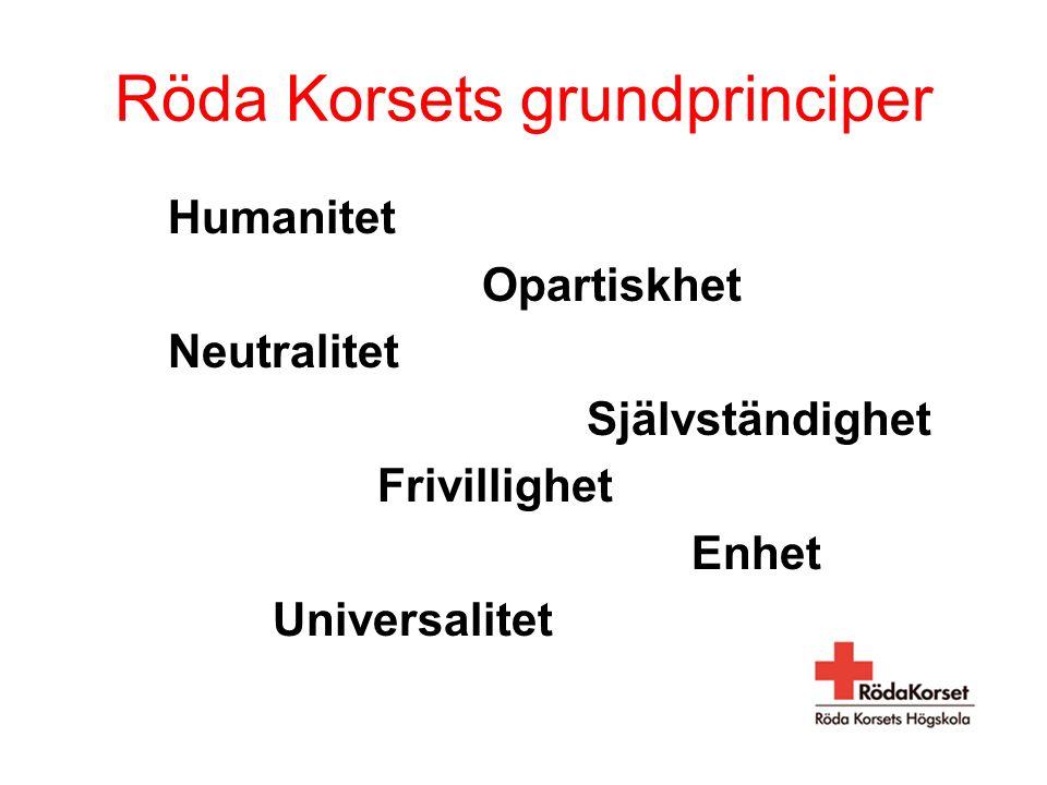 En högskola som grundar sig på Röda Korsets humanitetsprinciper