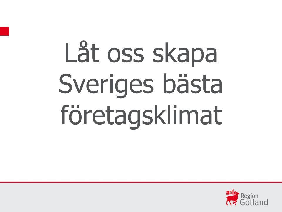 Låt oss skapa Sveriges bästa företagsklimat