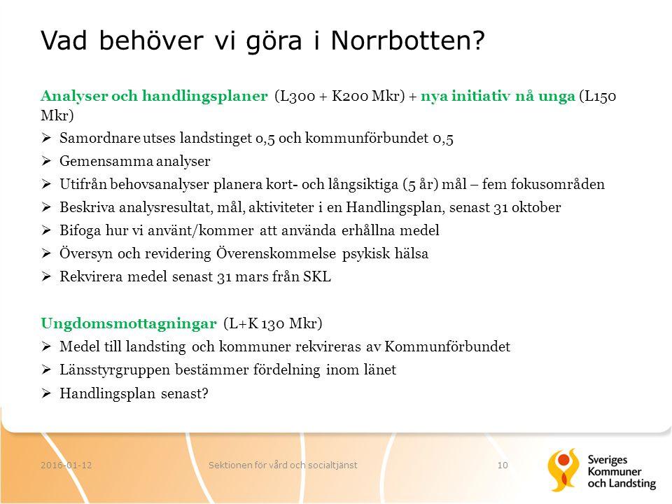 Vad behöver vi göra i Norrbotten.