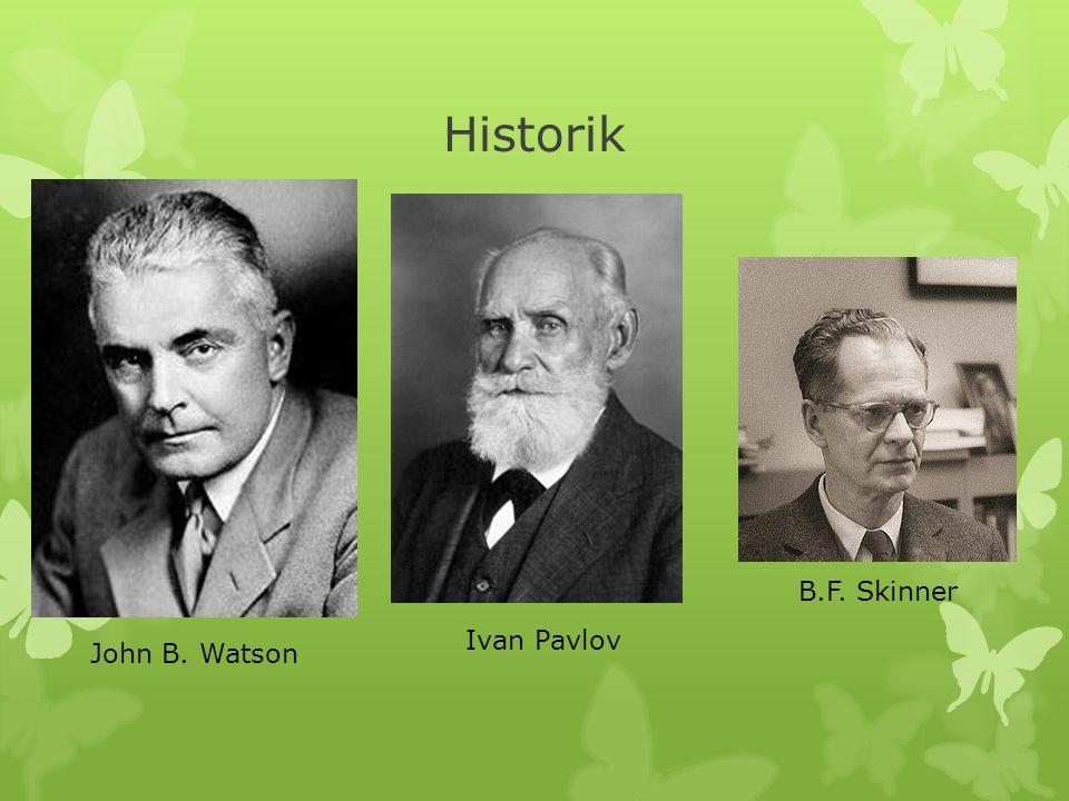 Historik John B. Watson Ivan Pavlov B.F. Skinner