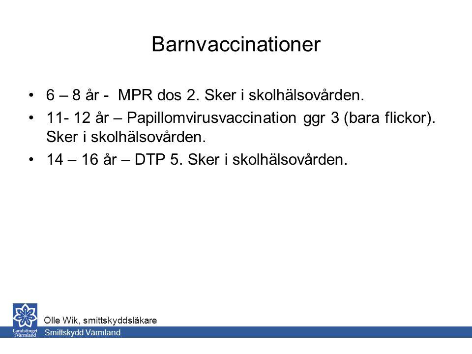 Barnvaccinationer 6 – 8 år - MPR dos 2. Sker i skolhälsovården.