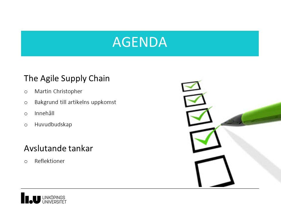 The Agile Supply Chain