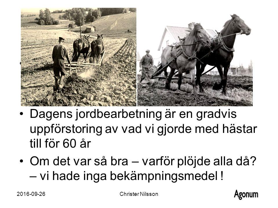 Dagens jordbearbetning är en gradvis uppförstoring av vad vi gjorde med hästar till för 60 år Om det var så bra – varför plöjde alla då.
