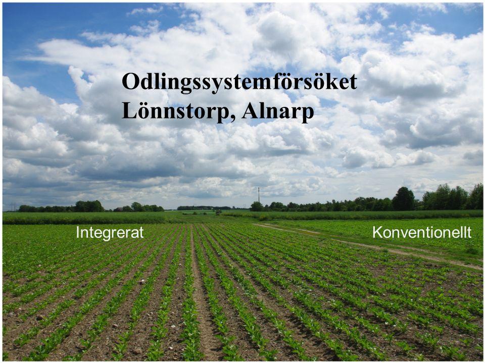 2016-09-26Christer Nilsson Konventionellt Integrerat Integrerat Konventionellt Odlingssystemförsöket Lönnstorp, Alnarp