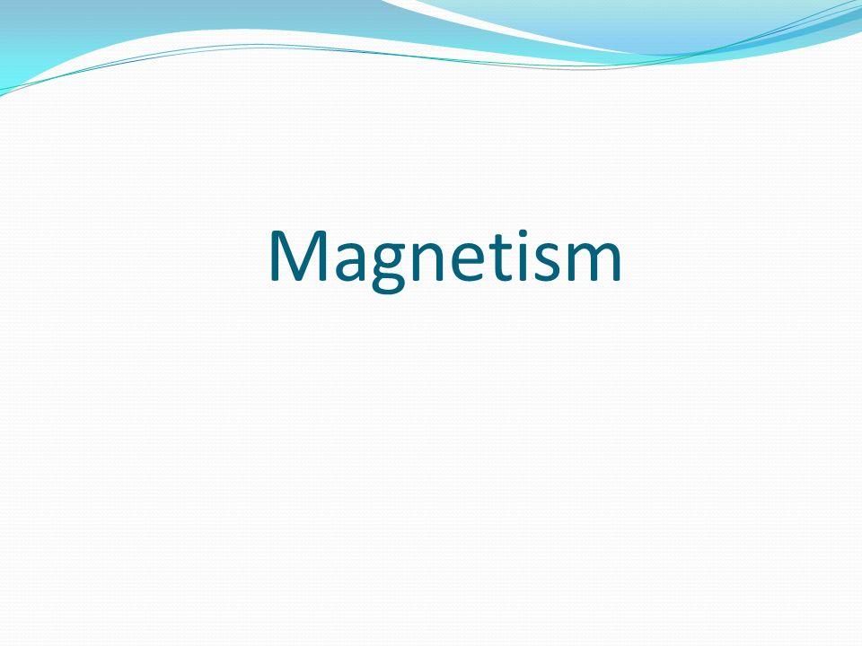Magneter har två poler Den röda sidan kallar nordpol och den vita kallas sydpol.