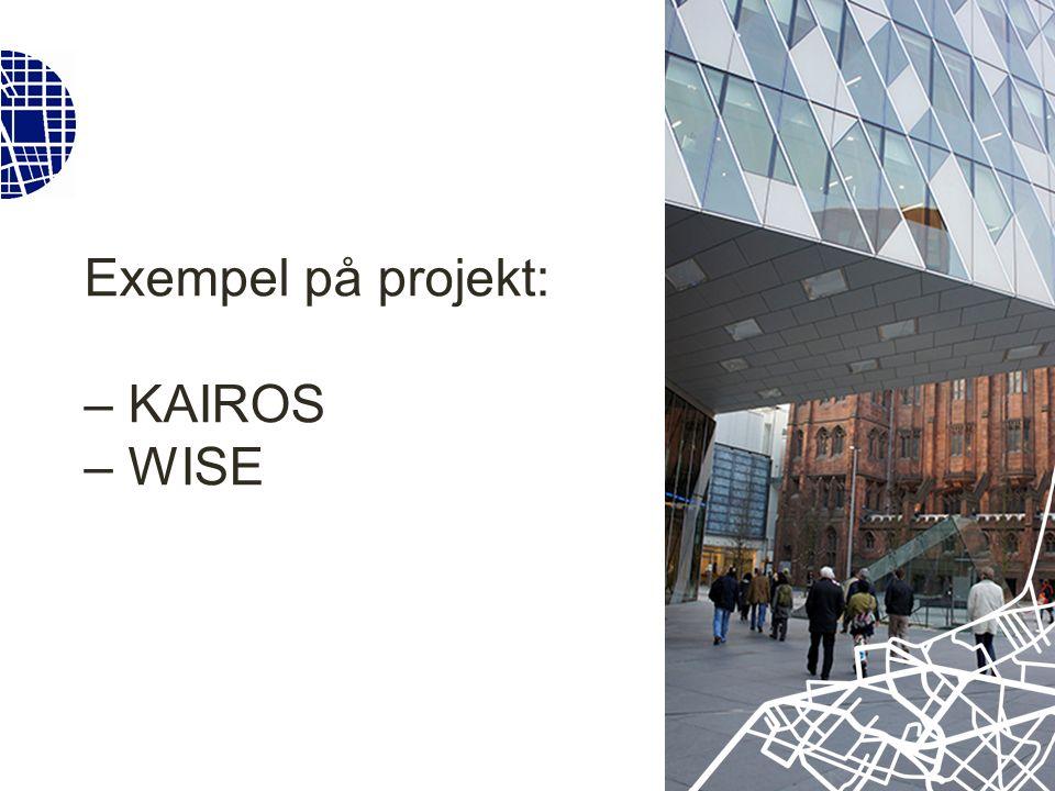 Projekt där VGR har varit särskilt aktiv Well-being in Sustainable Cities (WISE) Klimatomställning Göteborg, Radikala styrmedel, Beslutsmodeller, Arbetstidsinnovationer KAIROS Kunskap om och arbetssätt i rättvisa och socialt hållbara städer Civilsamhällets politiska delaktighet, Ungas medskapande, Dialogens roll och utformning Urbana Stationssamhällen Innovationer för hållbara och attraktiva stationssamhällen, Stationers roll för mindre orter och deras omland Östra Sjukhuset – Framtidens sjukhusområde