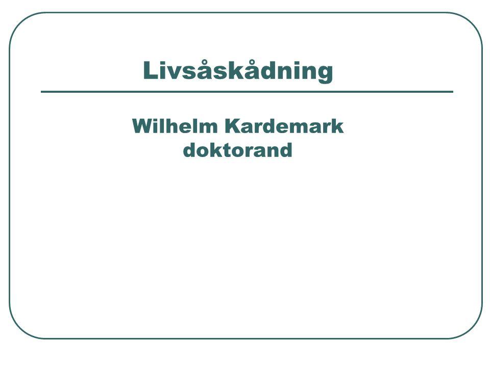 Livsåskådning Wilhelm Kardemark doktorand