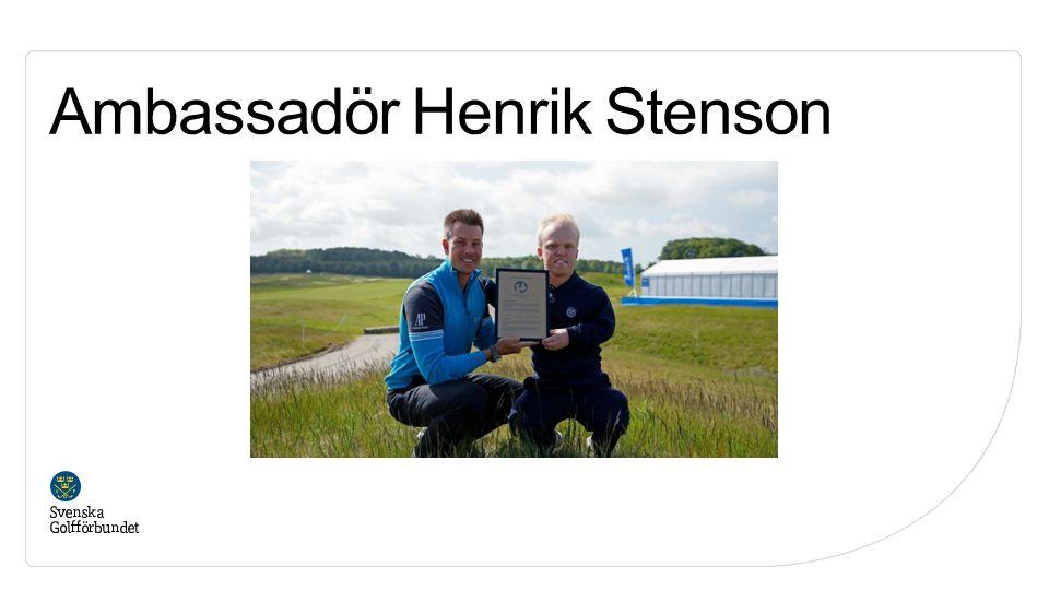 Ambassadör Henrik Stenson