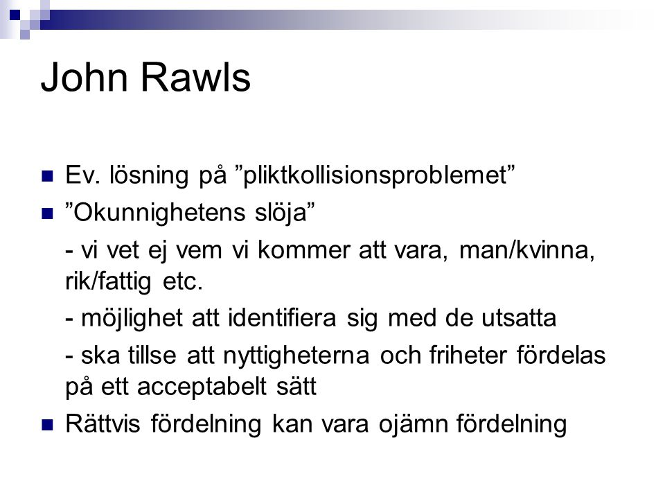 John Rawls Ev.