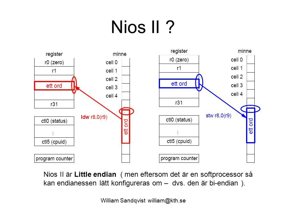William Sandqvist william@kth.se När har endianess betydelse.
