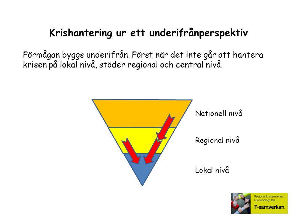 Nationell nivå Geografiskt områdesansvar Regeringen har geografiskt områdes- ansvar på Nationell nivå.