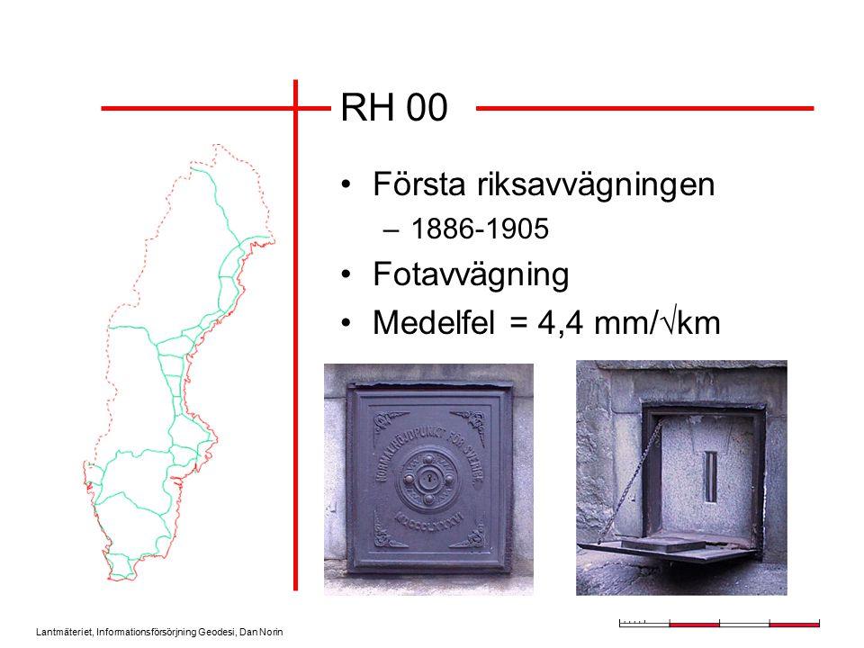 Lantmäteriet, Informationsförsörjning Geodesi, Dan Norin Höjdkorrektion för GPS N H h Jordyta Geoid Ellipsoid K=H-(h-N) H=h-N
