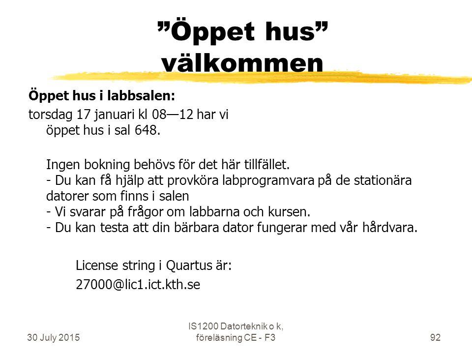Öppet hus välkommen Öppet hus i labbsalen: torsdag 17 januari kl 08—12 har vi öppet hus i sal 648.