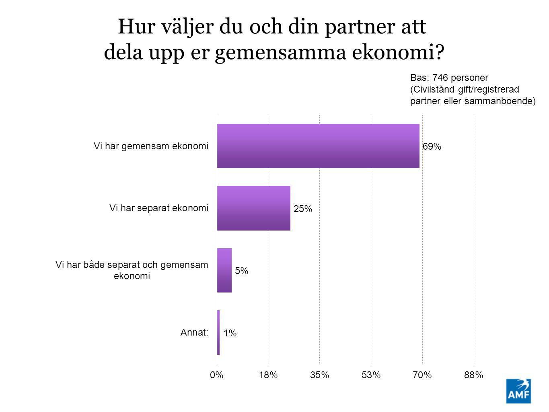 Hur väljer du och din partner att dela upp er gemensamma ekonomi.