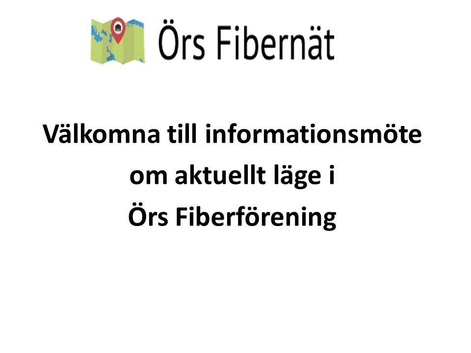 Välkomna till informationsmöte om aktuellt läge i Örs Fiberförening