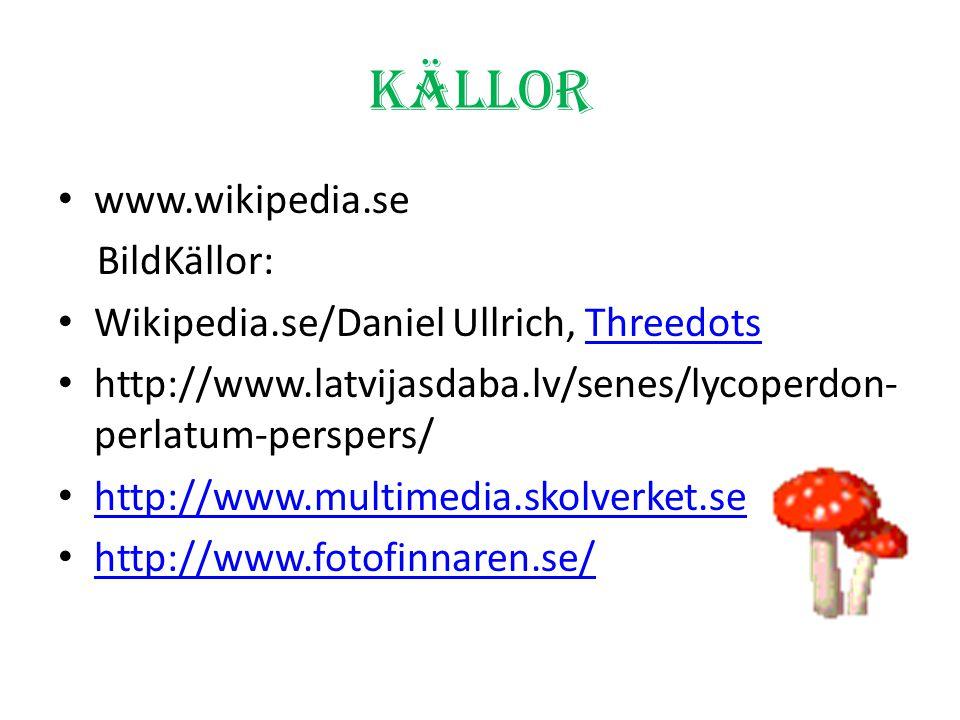 Ditt uppdrag! Välj två svampar som du vill veta mera om! Sök fakta på: http://www.naturplats.com/svamp/eatable. aspx http://www.naturplats.com/svamp/e