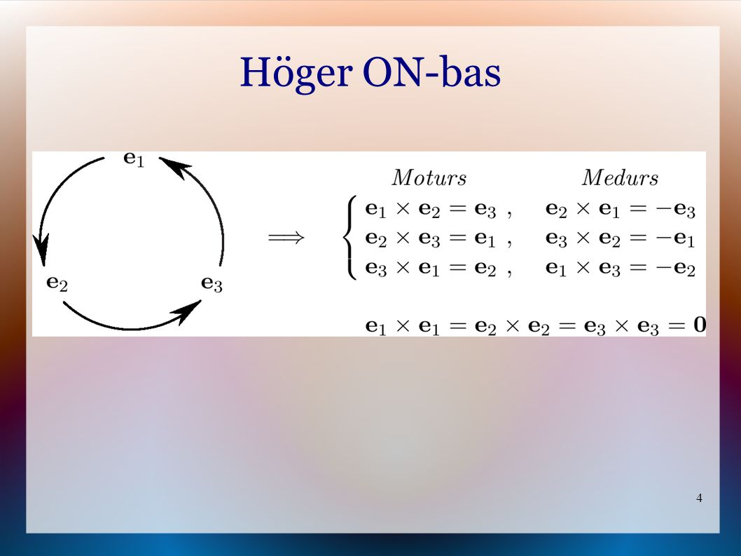 4 Höger ON-bas