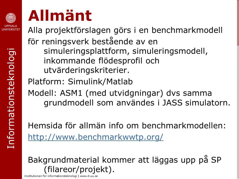 Informationsteknologi Institutionen för informationsteknologi | www.it.uu.se Projekt R1.